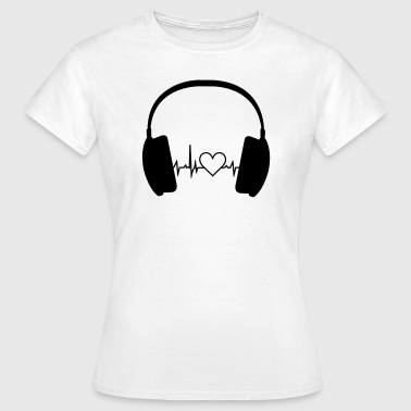 Heartbeat Music Headphone - Frauen T-Shirt