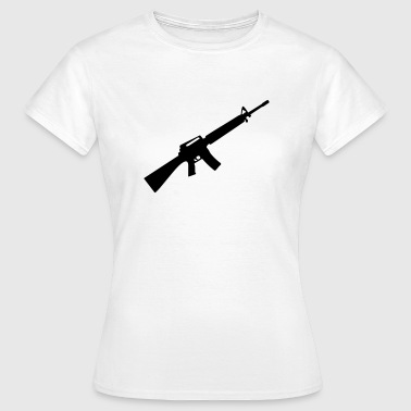 M16 M4 Rifle Gun Weapon maskin - T-shirt dam