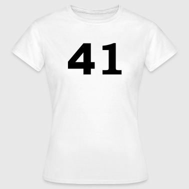Number - 41 – Forty-One - Women's T-Shirt