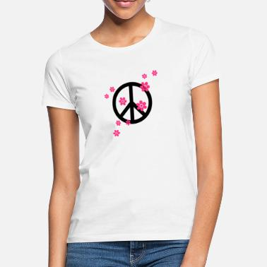 Hippie Peace Flowers Love Freedom Symbol Summer Hippie - Women's T-Shirt