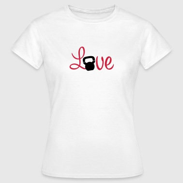 Kettlebell Love - Women's T-Shirt