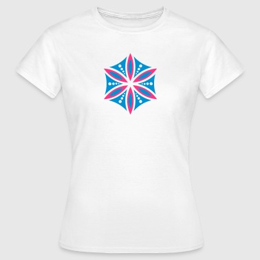Flower of Aphrodite, 2c, Symbol of  love, beauty and transformation, Power Symbol, Talisman - T-shirt Femme