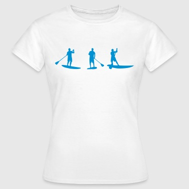 Sup, standing paddling, surfing, surfing, Supen, Stand up paddle surfing - Women's T-Shirt