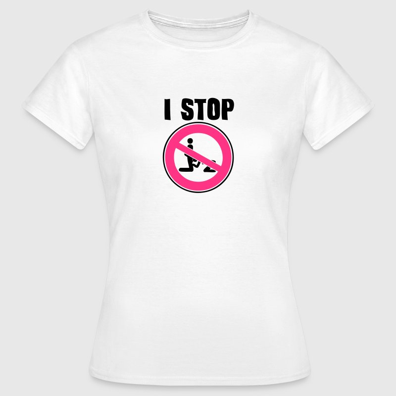 i stop blowjob pipe sexual act1 panel interdiction  - Women's T-Shirt