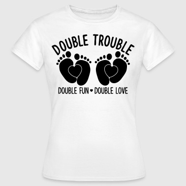 Double trouble double fun double love - Zwillinge - Camiseta mujer