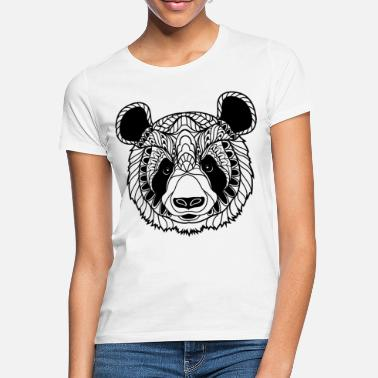 Illustration Cute Panda Face Illustration - Frauen T-Shirt
