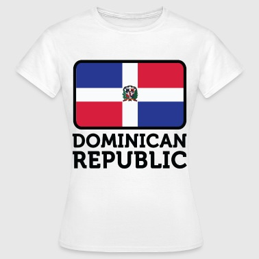 Dominikanske Republik National Flag af Den Dominikanske Republik - Dame-T-shirt