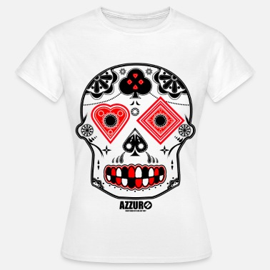 Azzuro Candy Skull - Women's T-Shirt