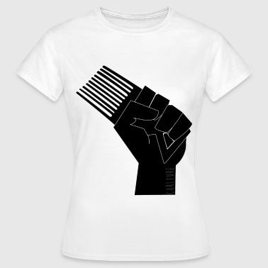 CURLture Frovolution Fist Logo - Women's T-Shirt