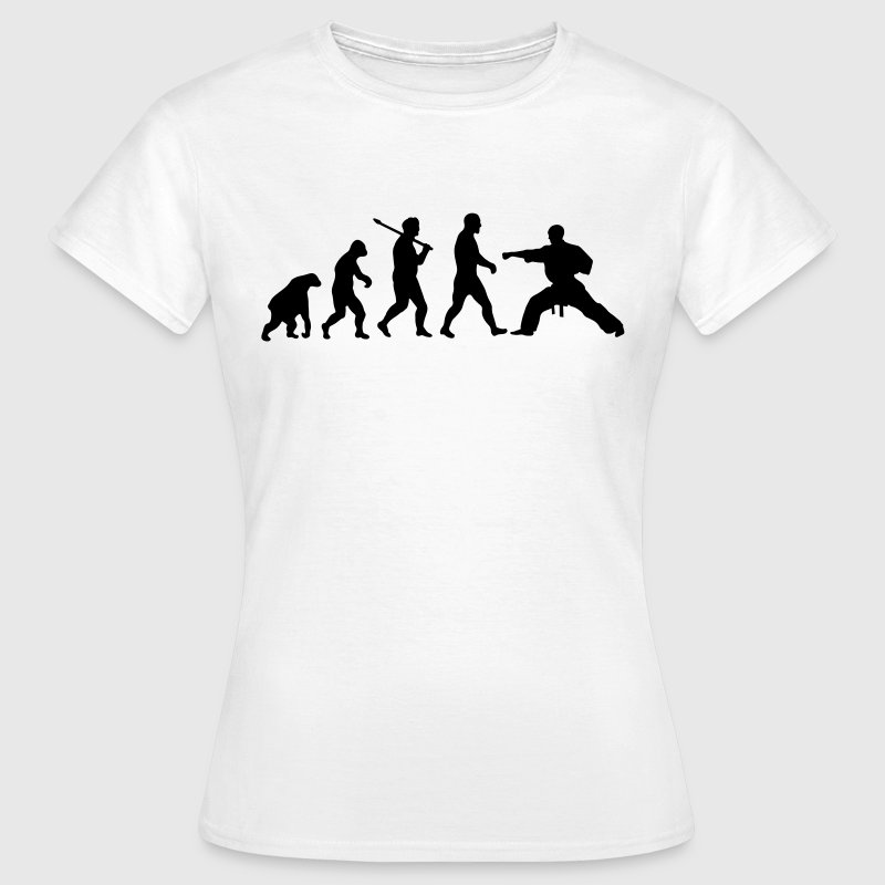 Evolution: Karate - Dame-T-shirt