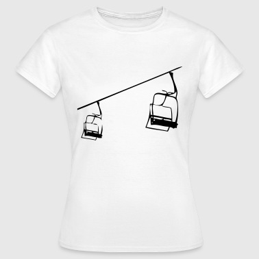 Retro Skilift - Sesselllift Illustration - Frauen T-Shirt