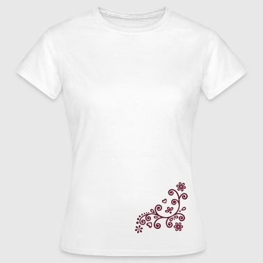 Flower Twine floral flower ornament  - Women's T-Shirt