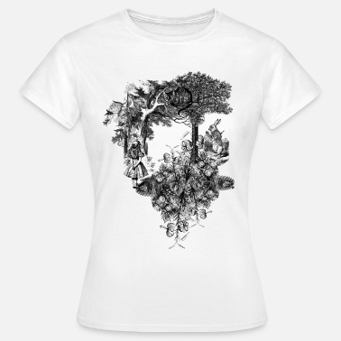 Alice I Eventyrland Alice Collage - Dame-T-shirt