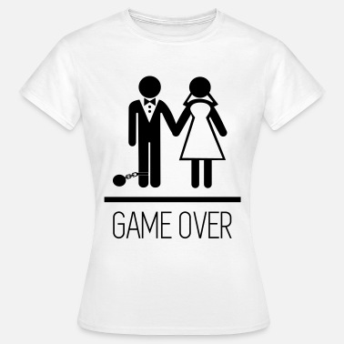 Game Over Matrimonio Game over - Addio Al Celibato - divertenti - Maglietta da donna