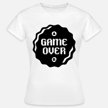 Shoot Em Up Game Over zwart - Vrouwen T-shirt