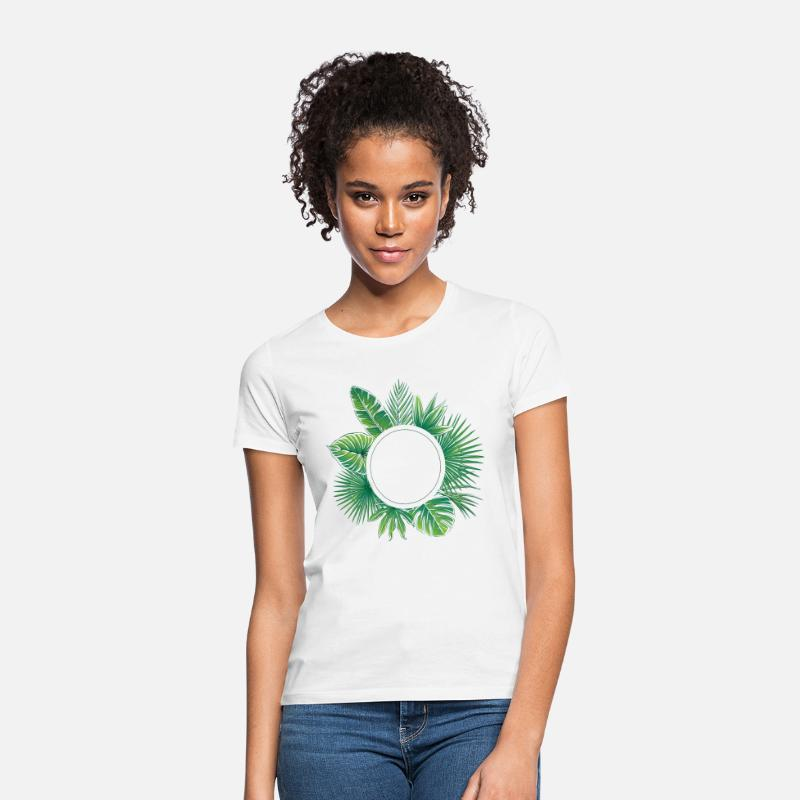 Blossom T-Shirts - tropical design  - Women's T-Shirt white