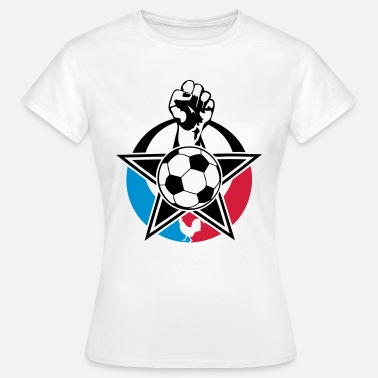 Poing-leve poing leve football france - T-shirt Femme