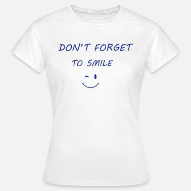 Wink Smiley Smile - Dame-T-shirt