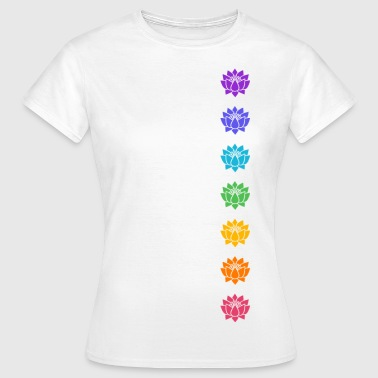 Lotus Chakras, Cosmic Energy Centers, Evolution    - Frauen T-Shirt
