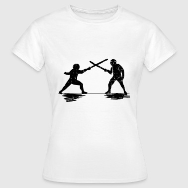 fencing sword sword duel arena sword fighting - Women's T-Shirt