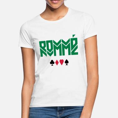 Cards ROMME - CARD PLAYING / CARD GAME - T-shirt dame