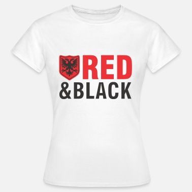 Kuq E Zi Albanian eagle red and black - Women's T-Shirt