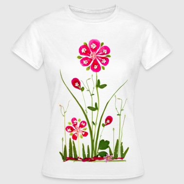 Fantasy Flower Power, Summer, Beautiful, Garden - Women's T-Shirt