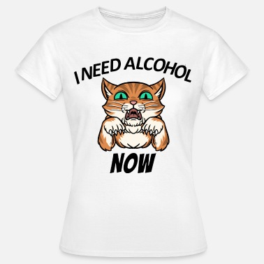 Chatte Alcool Chat Alcool Paroles drôles - T-shirt Femme