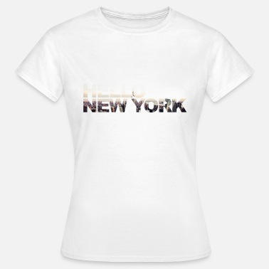 5th Avenue Hello new york NYC USA | Travel & see the world - Frauen T-Shirt