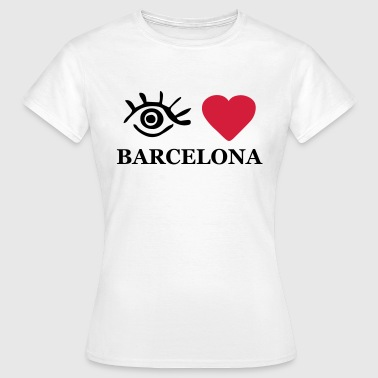 I Love Barcelona Eye-Love 'Barcelona' Hettegenser for damer - T-skjorte for kvinner