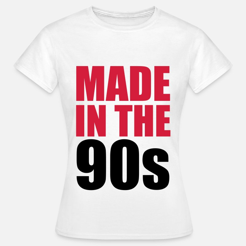 Cool T-Shirts - Made In The 90s - Vrouwen T-shirt wit