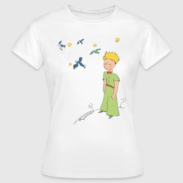 The Little Prince Travels With Birds - Women's T-Shirt