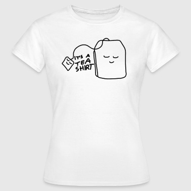 Tea shirt with smiling teabag - Women's T-Shirt