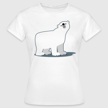 Cute Cartoon Polar Bear by Cheerful Madness!! - Women's T-Shirt