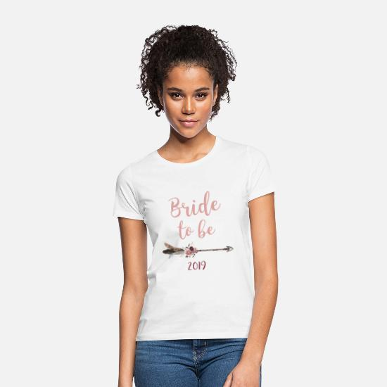 Mr And Mrs T-Shirts - Bride to be 2019 - Frauen T-Shirt Weiß
