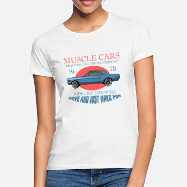V8 Muscle Car - V8 US Muscle Classic Cars - Frauen T-Shirt
