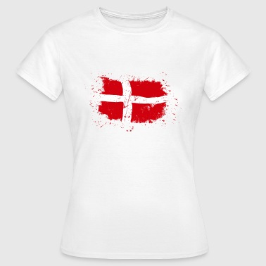 Denmark Flag - Vintage Look - Frauen T-Shirt