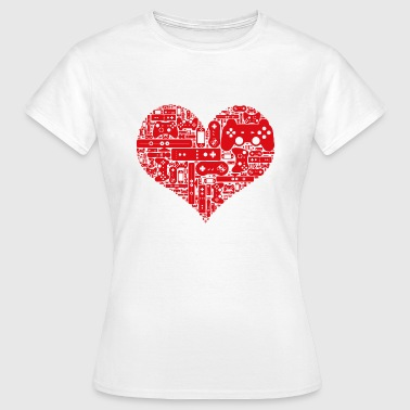 Gamer heart - Women's T-Shirt