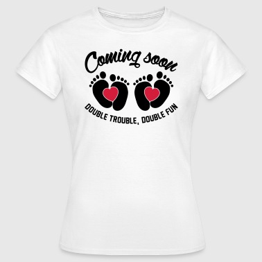 Double trouble double fun double love - Zwillinge - Frauen T-Shirt