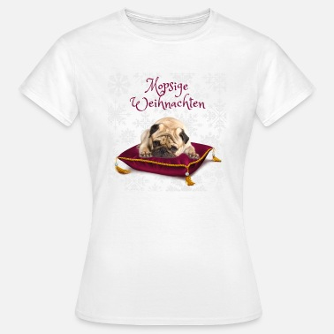 Stinker Pug Jul - Berry - Dame-T-shirt