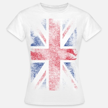 Londres union jack - used look - Camiseta mujer