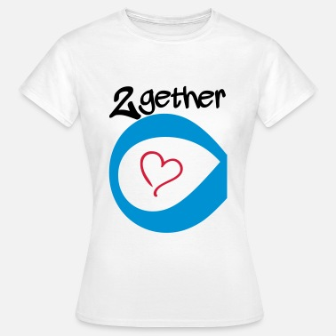 Together Couple Together forever Infinity - Vrouwen T-shirt