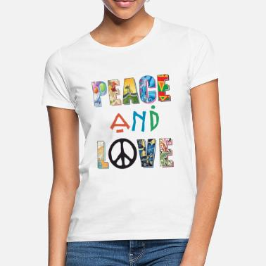 Hippie Peace and Love - Women's T-Shirt