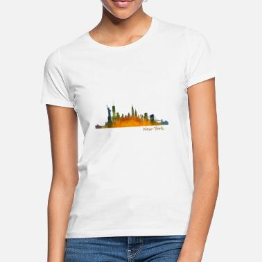 Ny By NYC New Yorks skyline silhouette by NY - T-skjorte for kvinner