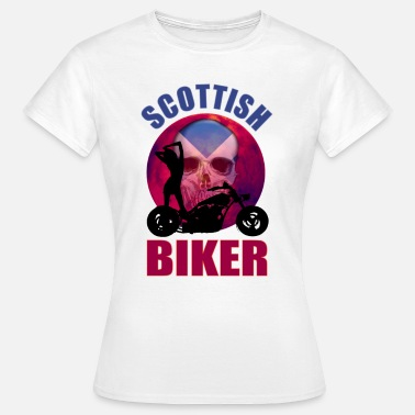 Scottish Biker Scottish Biker Sexy Lady - Women's T-Shirt