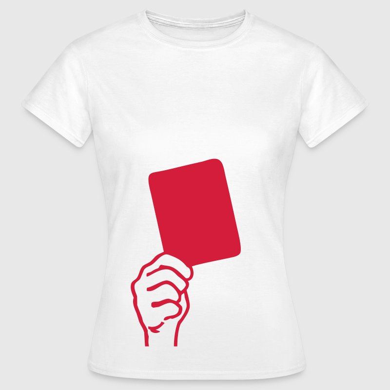 Soccer - red card - Women's T-Shirt