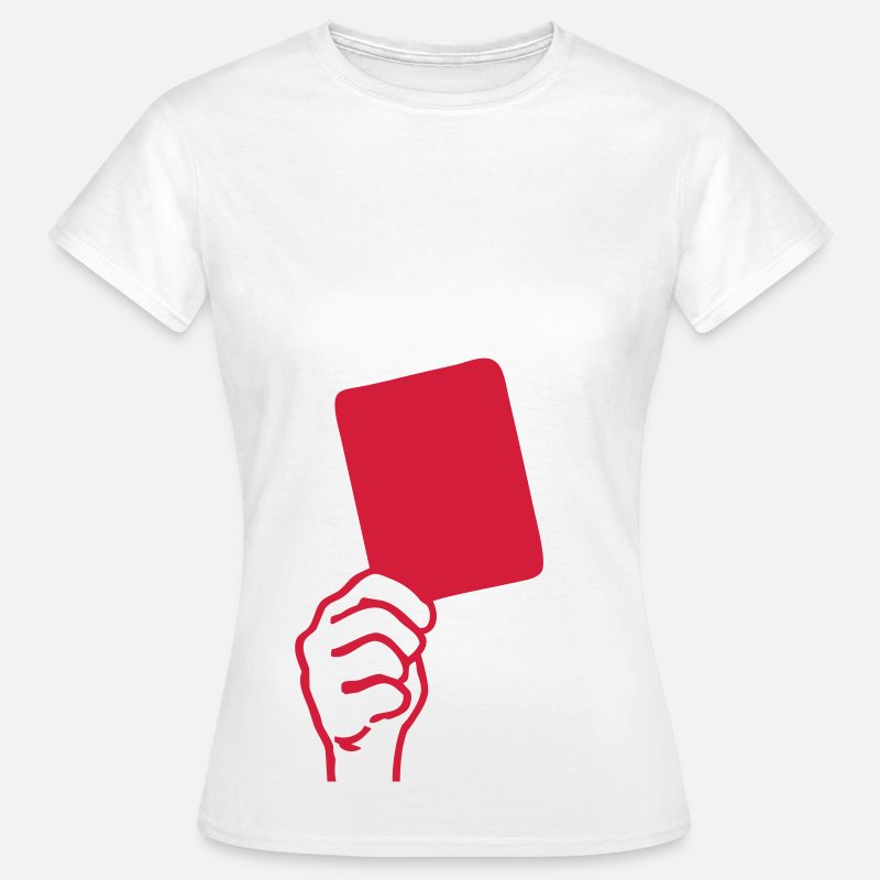 2010 T-Shirts - Soccer - red card - Women's T-Shirt white