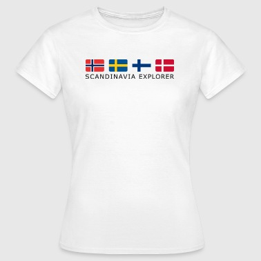 SCANDINAVIA EXPLORER black-lettered - Women's T-Shirt