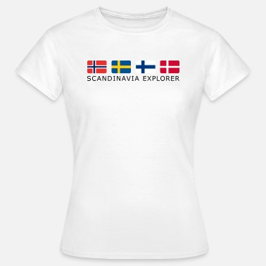 Black Light SCANDINAVIA EXPLORER black-lettered - T-shirt Femme