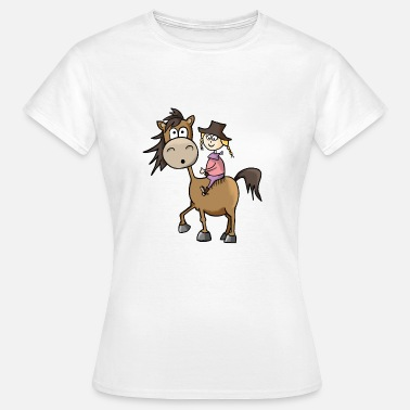 Riding Western Chica a caballo Western riding Western - Camiseta mujer